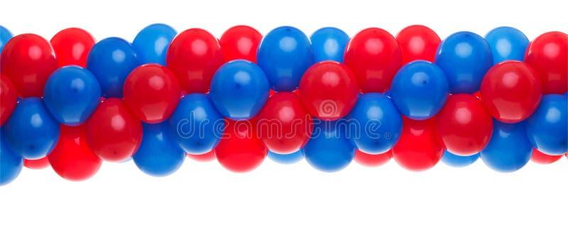 раздувает голубой красный цвет стоковые фотографии rf