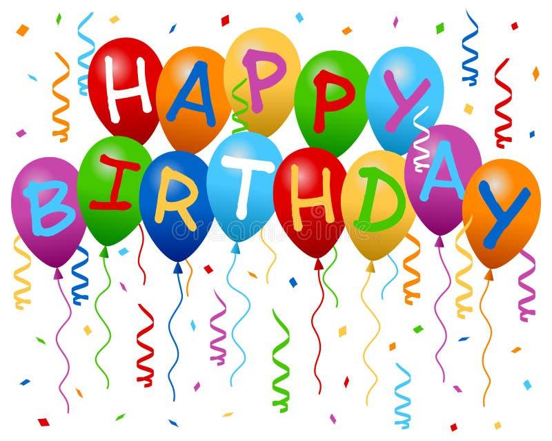 Download раздувает день рождения знамени счастливый Иллюстрация вектора - иллюстрации: 24917593