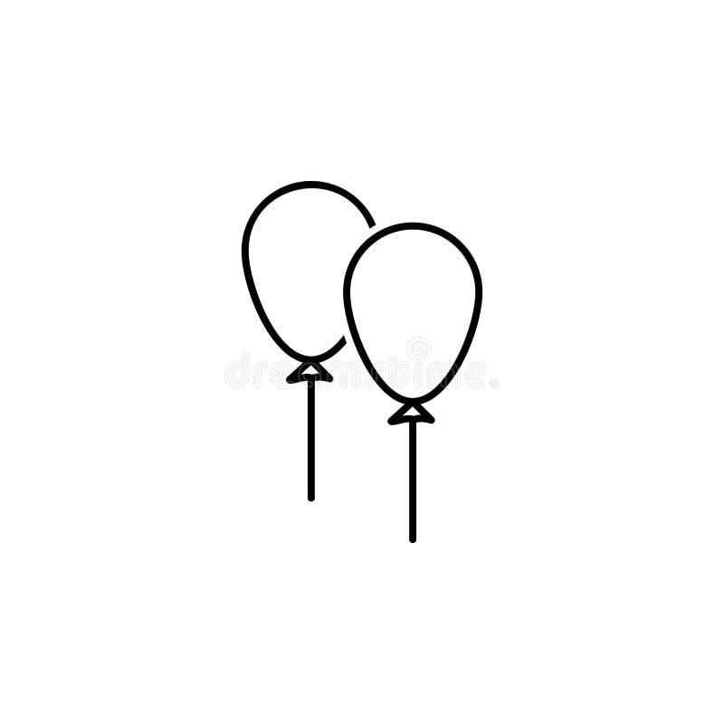 Раздувает значок Элемент свадьбы для передвижной иллюстрации apps концепции и сети Тонкая линия значок для дизайна и развития веб иллюстрация вектора