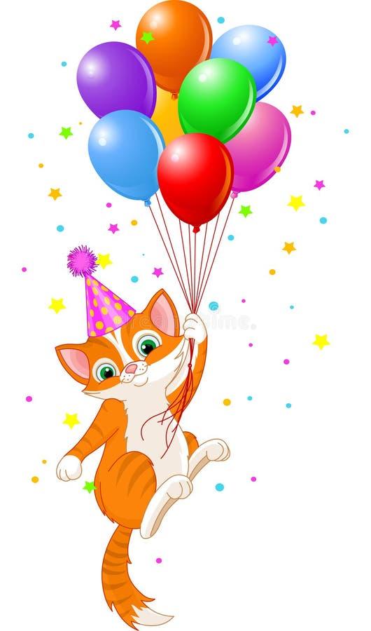 картинки с днем рождения котик с шариками дом немного отличается