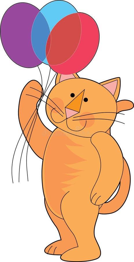 раздувает кот бесплатная иллюстрация