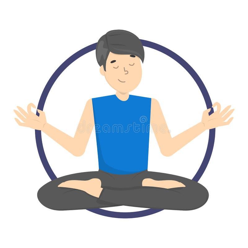 Раздумье в представлении лотоса Практика йоги бесплатная иллюстрация