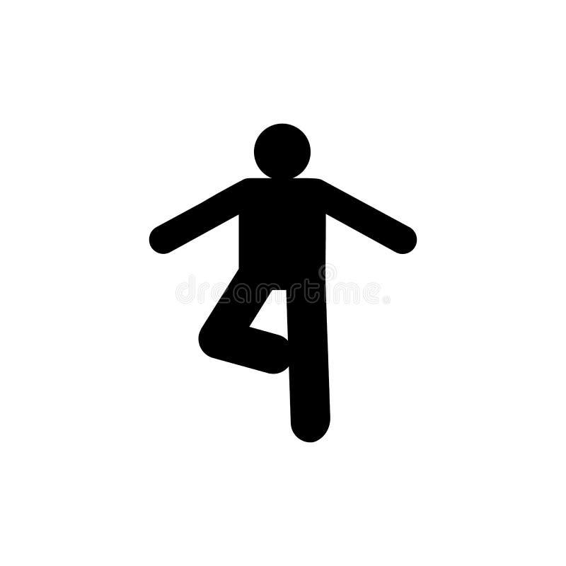 Раздумье, отступление, значок йоги r r r иллюстрация штока