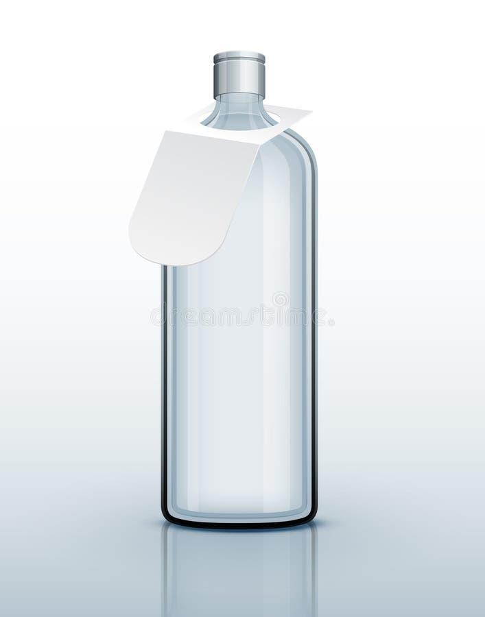 разлейте шаблон по бутылкам питья стеклянный трудный иллюстрация штока