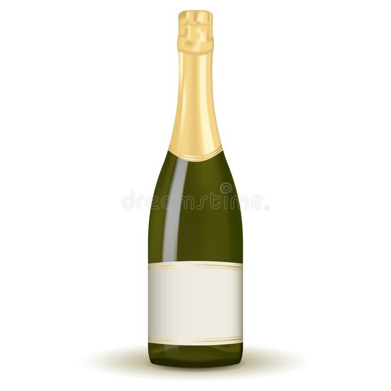 разлейте шампанское по бутылкам бесплатная иллюстрация