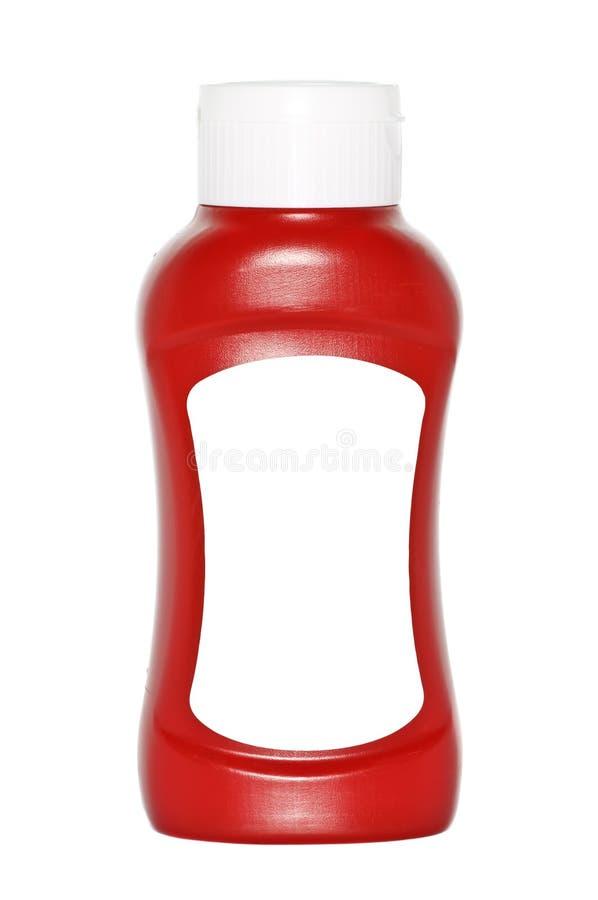 разлейте ketchup по бутылкам стоковые изображения