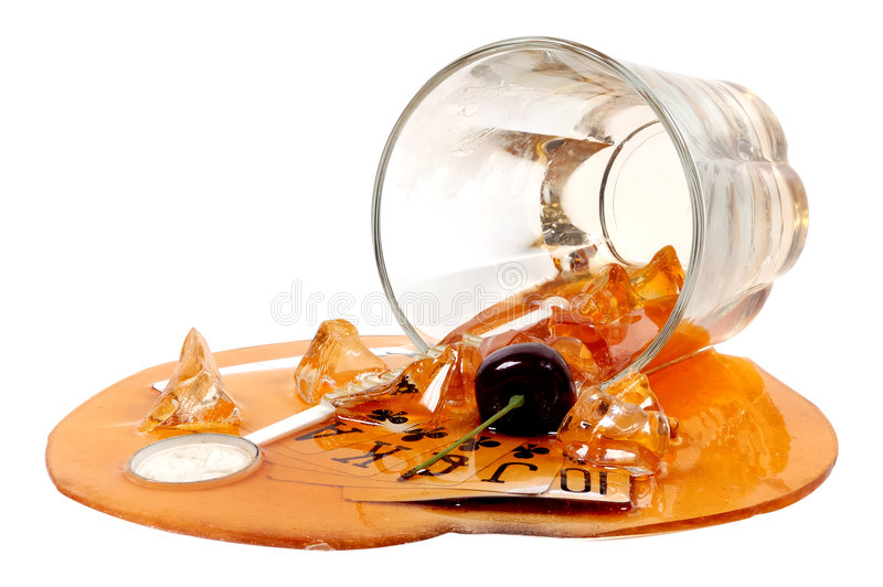 разленное питье стоковое изображение rf