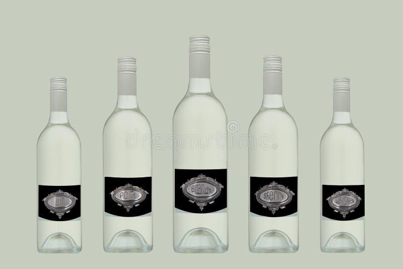 разливает разнообразие по бутылкам стоковая фотография rf