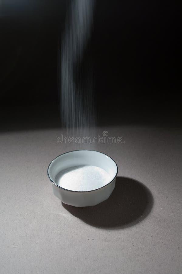 разливать соли стоковое изображение rf