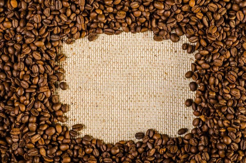 Разлитая рамка кофейных зерен стоковые фотографии rf