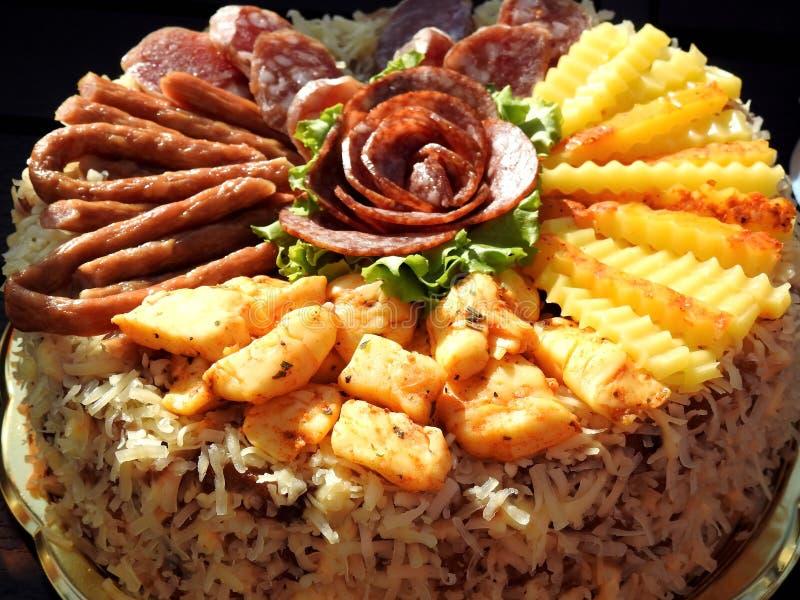 Различная вкусная еда в плите, Литве стоковое изображение rf