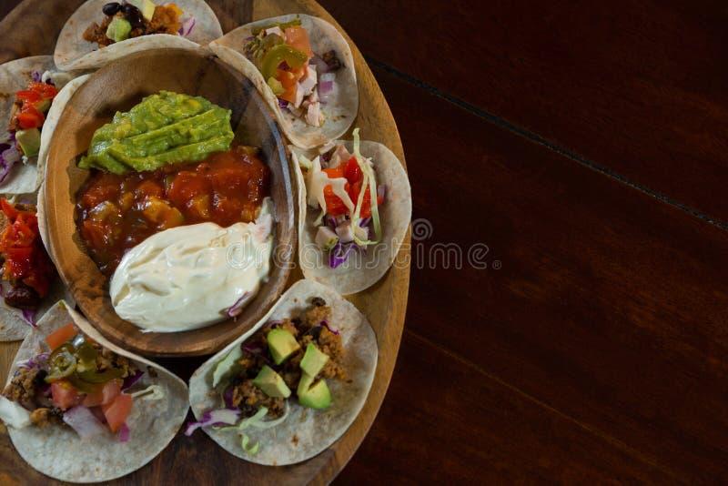 Различная мексиканская еда стоковое изображение rf