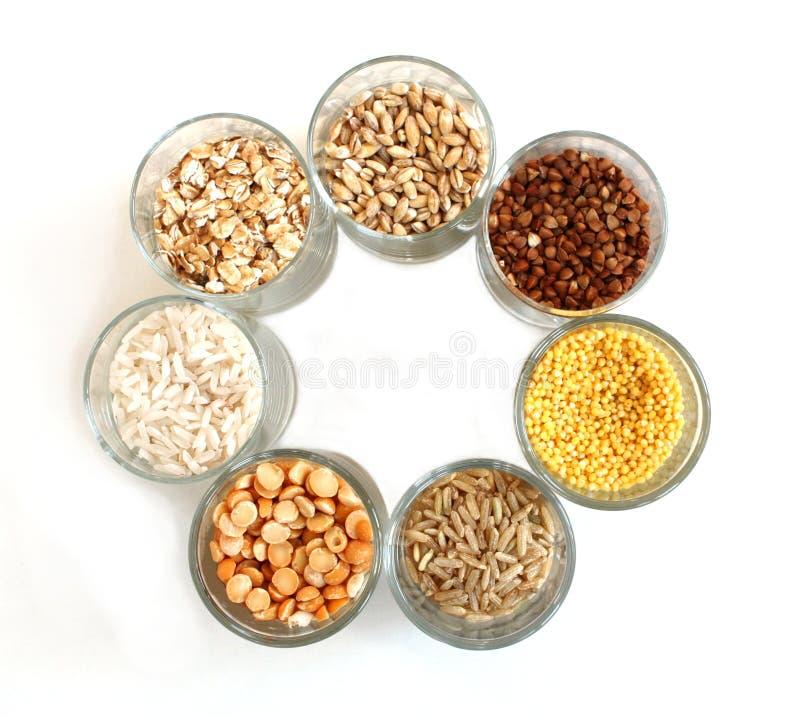 различные виды зерна стоковое изображение