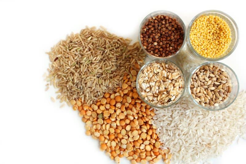 различные виды зерна стоковое фото