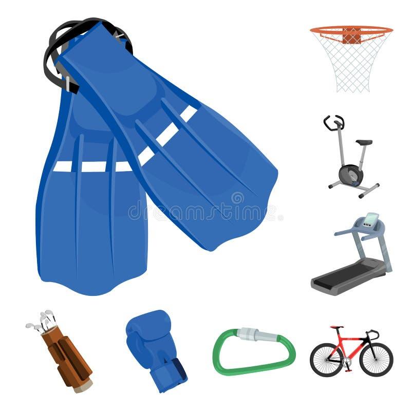 Различные виды значков шаржа спорт в собрании комплекта для дизайна Сеть запаса символа вектора оборудования спорта бесплатная иллюстрация