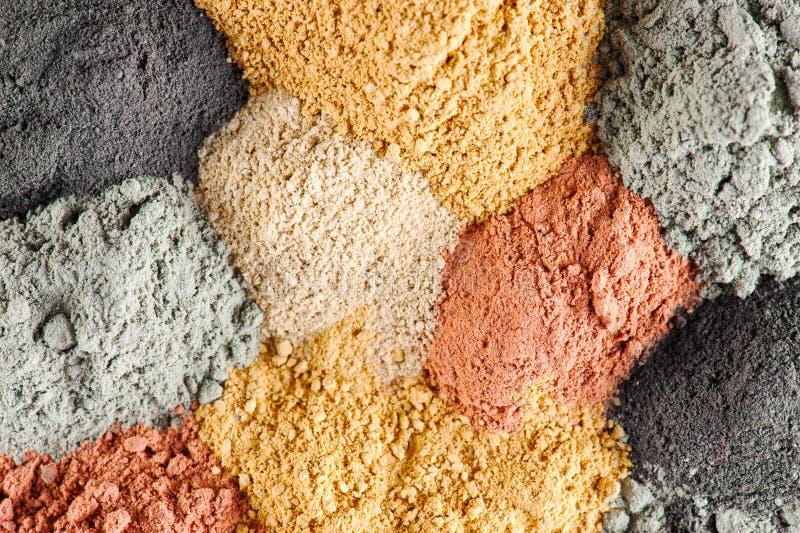 Различные виды косметической глины стоковые изображения rf