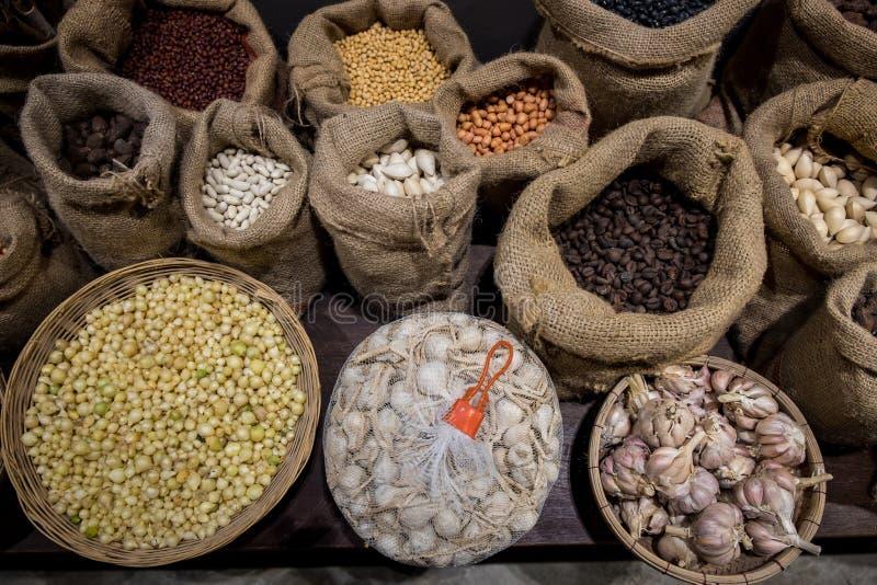 Различные виды пищевого ингредиента стоковая фотография rf