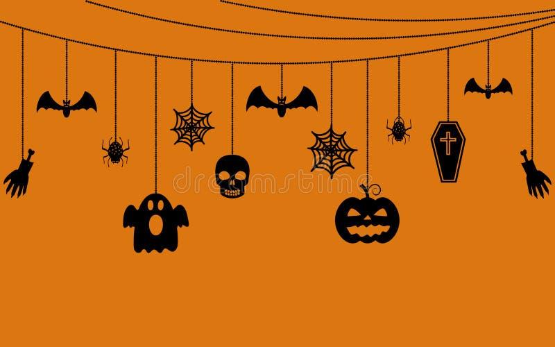 Различные вися орнаменты хеллоуина бесплатная иллюстрация