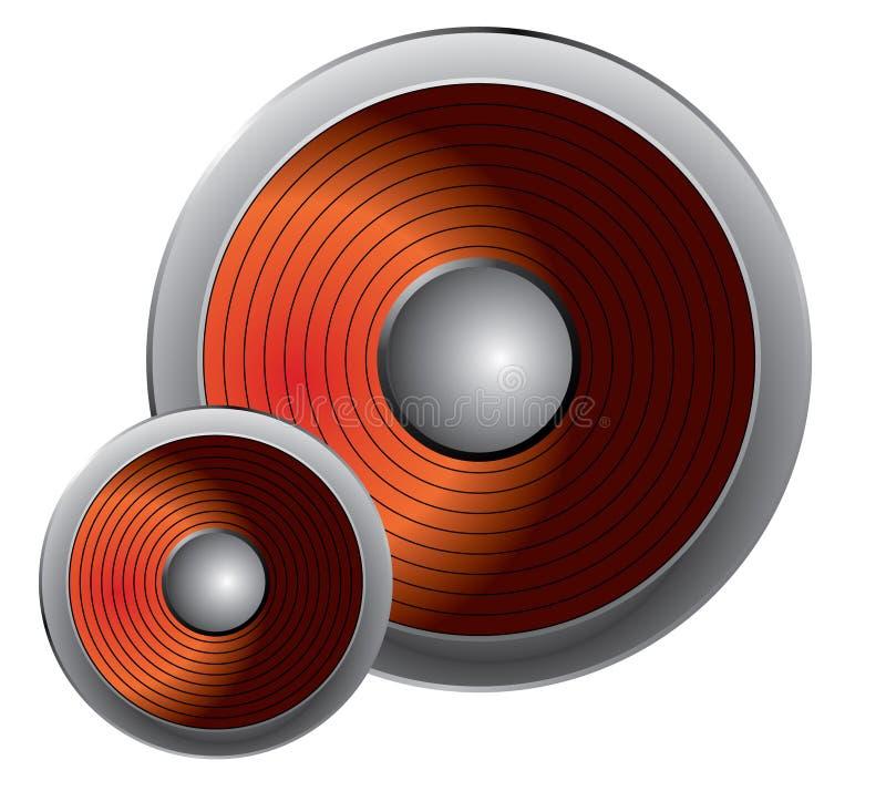 различные дикторы 2 размера иллюстрация штока