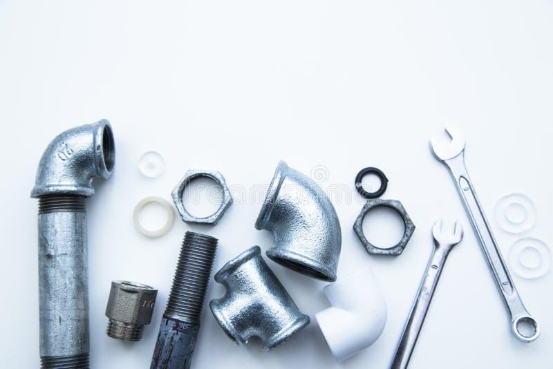 Различные инструменты водопроводчиков стоковое изображение rf