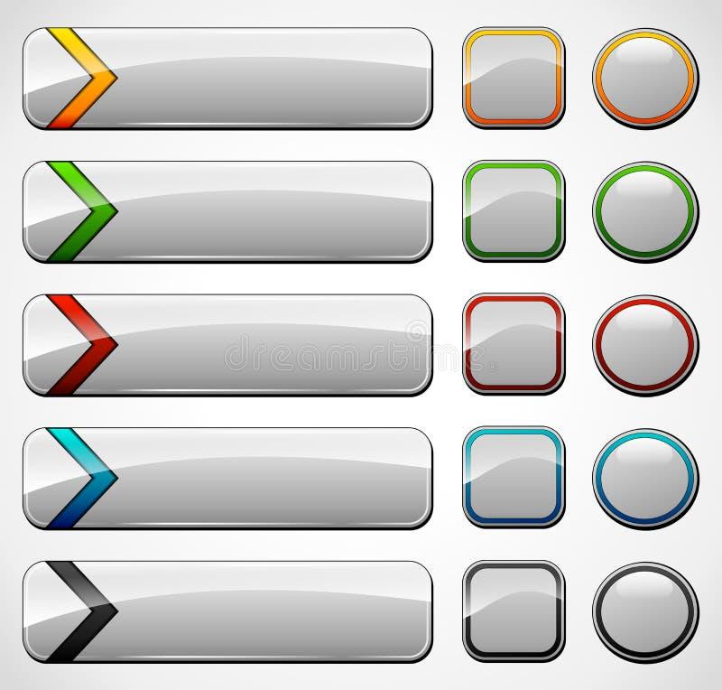 Различные кнопки вебсайта иллюстрация вектора