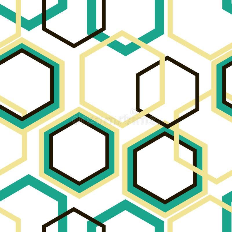 Различные косоугольники бирюзы размера, желтых и черных на белой предпосылке бесплатная иллюстрация