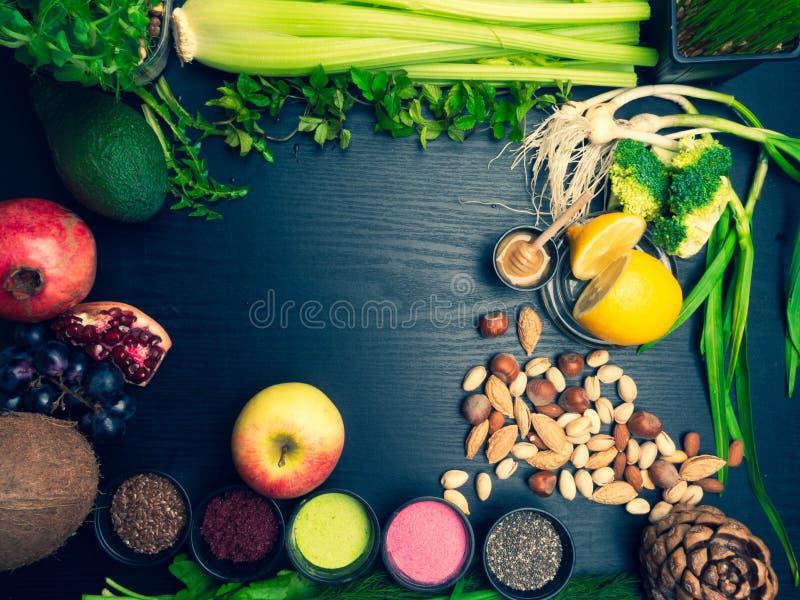 Различные красочные superfoods стоковые изображения rf