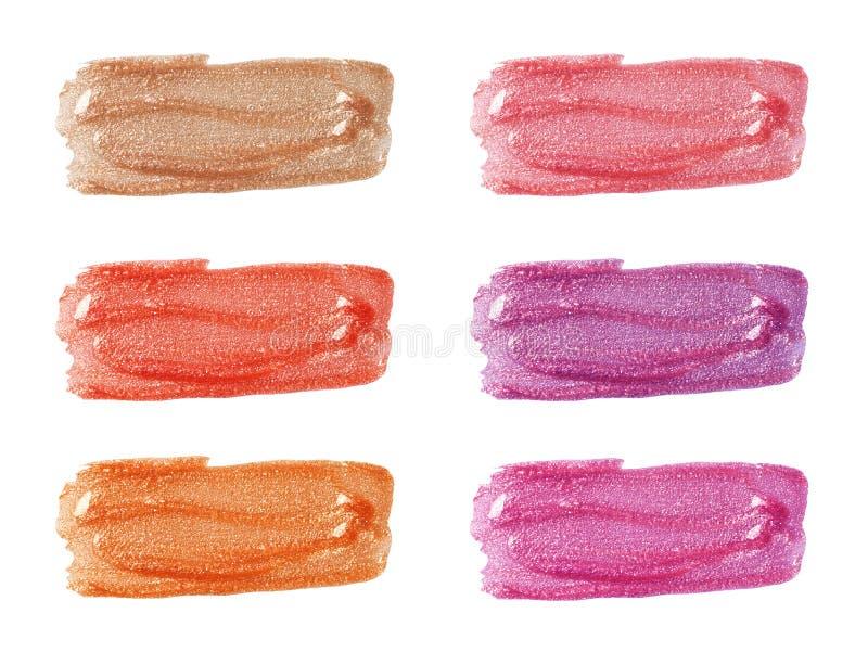 Различные лоски губы стоковое фото