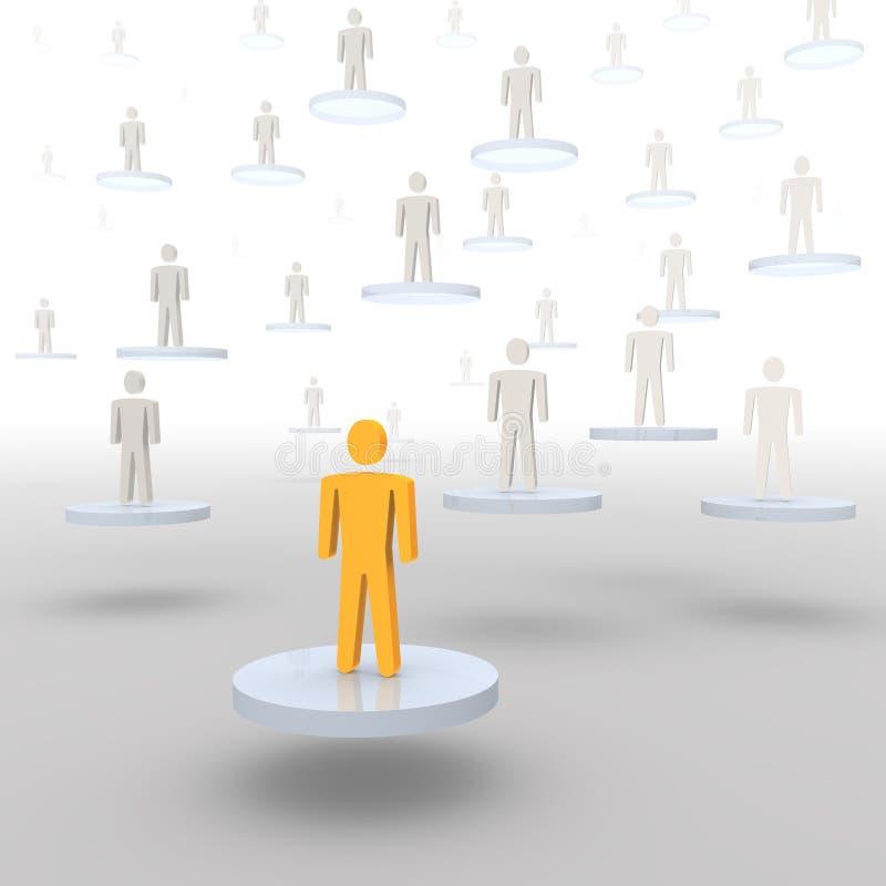 Download различные люди уровней иллюстрация штока. иллюстрации насчитывающей круг - 6861188