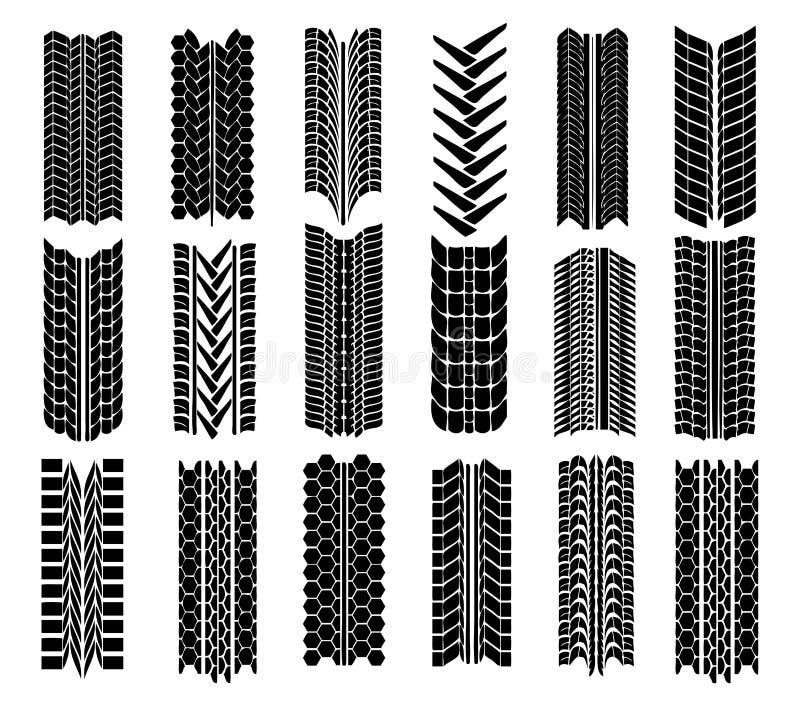 различные отпечатки прямо tyre иллюстрация штока