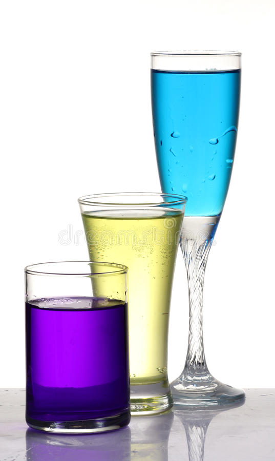 Различные покрашенные пить партии стоковые изображения rf