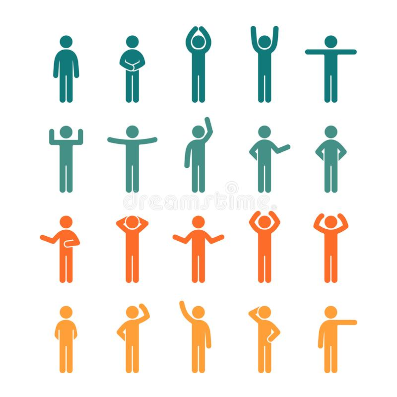 Различные представления вставляют диаграмму набор значка людей покрашенный пиктограммой иллюстрация вектора