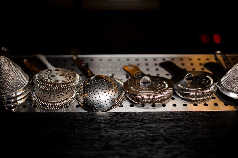 Различные сетки формы на счетчике стального прута стоковая фотография