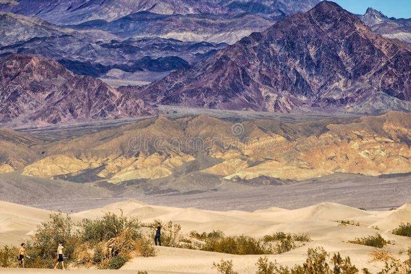 Различные слои национального парка Death Valley стоковые фотографии rf