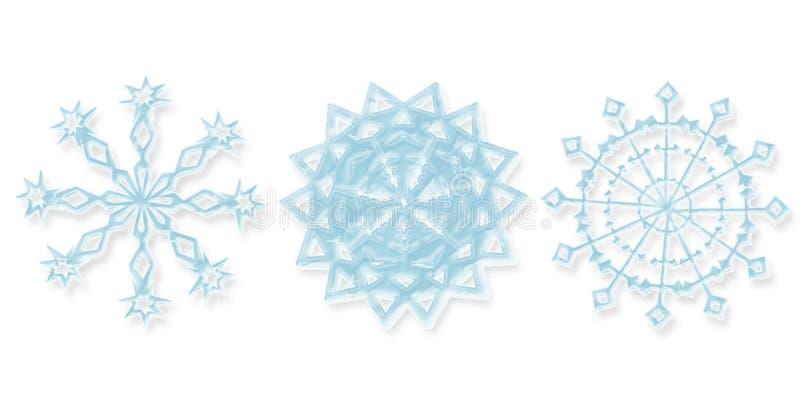различные снежинки 3 бесплатная иллюстрация
