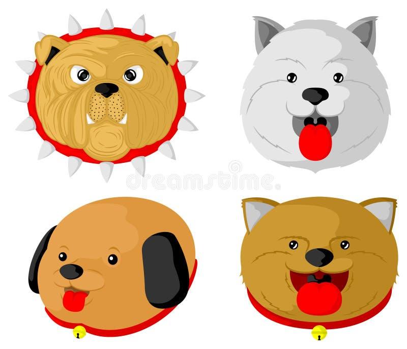 Различные типы милых собак бесплатная иллюстрация