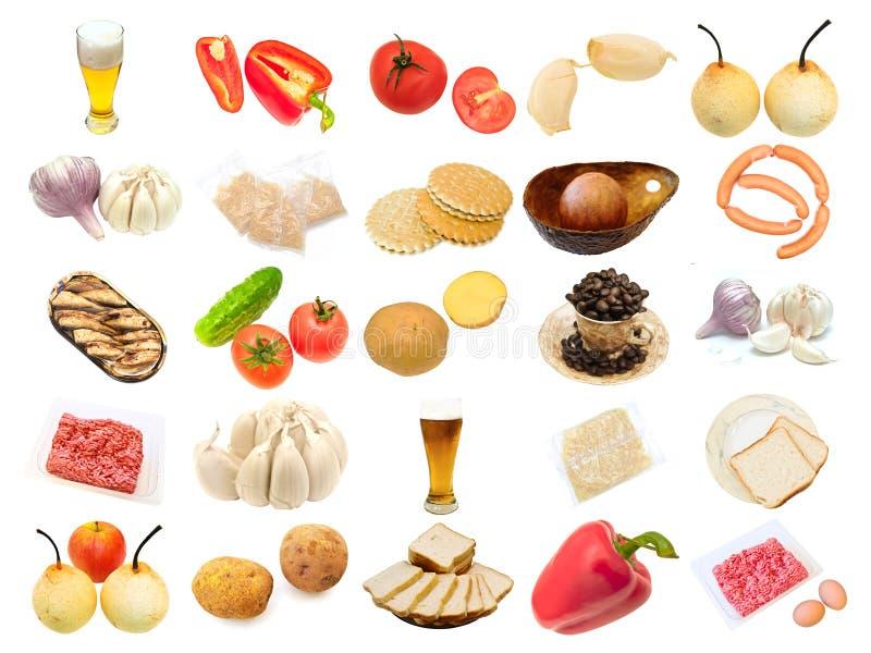 различные установленные продукты питания стоковое фото