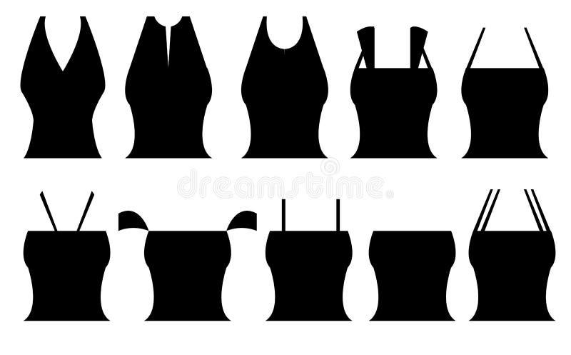 Различные формы верхних частей ` s женщин стоковые изображения rf