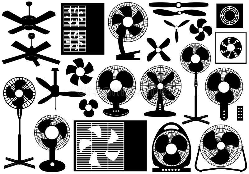 Различный комплект вентилятора бесплатная иллюстрация