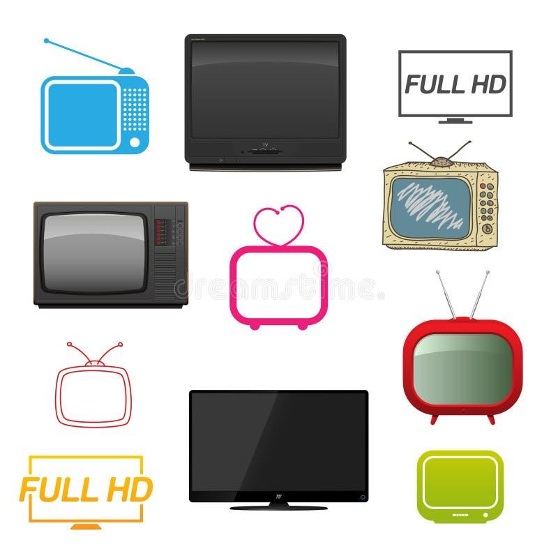 различный комплект tv бесплатная иллюстрация