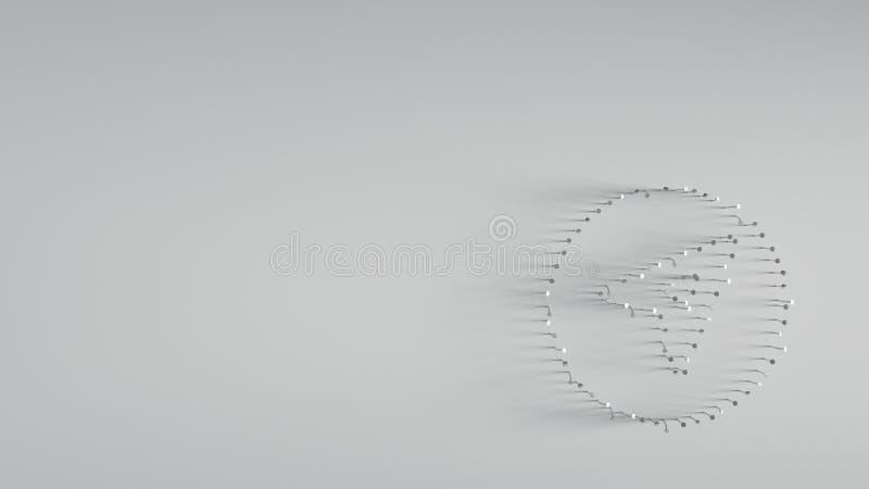 различный ногтей металла в форме стрелки компаса стоковая фотография