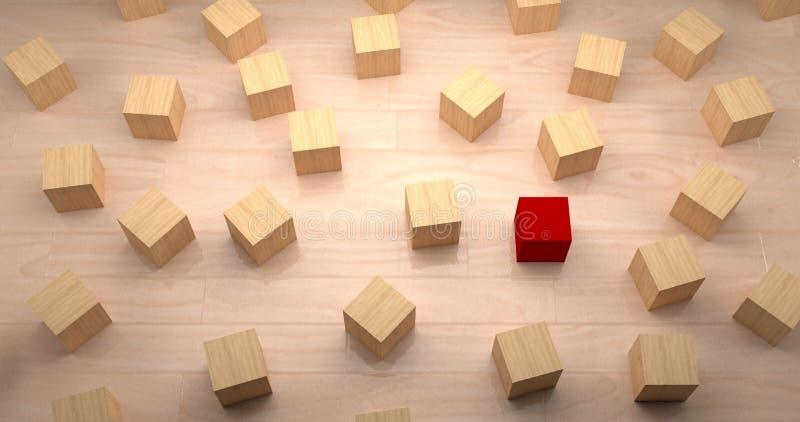 Различный, уникальный и стоящ вне концепция с блоками стоковые изображения