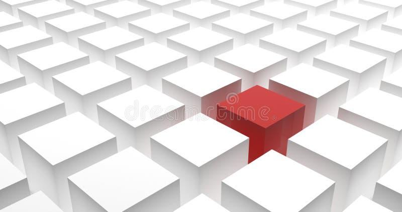 Различный, уникальный и стоящ вне концепция с кубами стоковые изображения rf