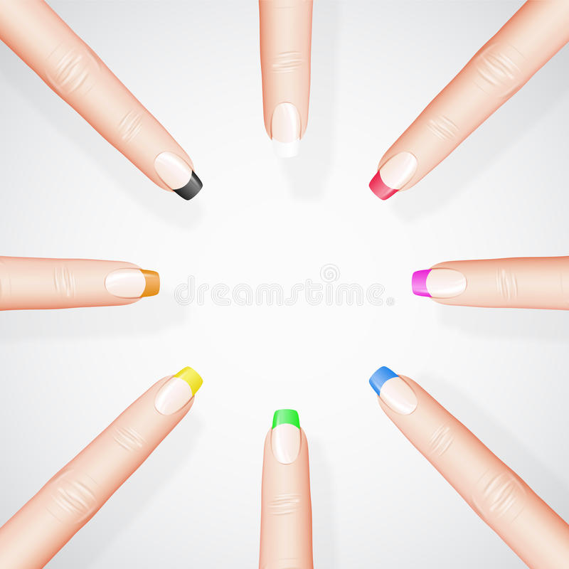 Различный manicure иллюстрация штока