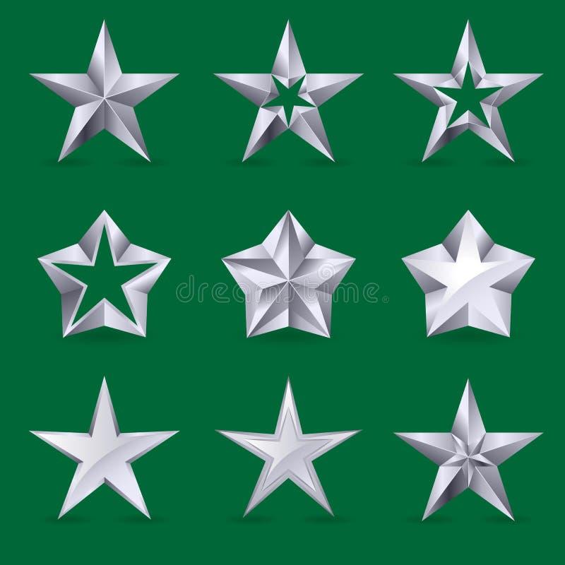 различными звезды установленные иконами иллюстрация вектора