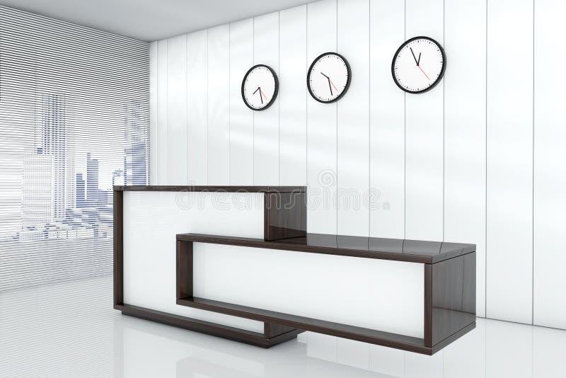 Размеры офиса как прием 3d представляя интерьер иллюстрация штока