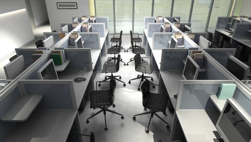 Размеры офиса иллюстрация вектора