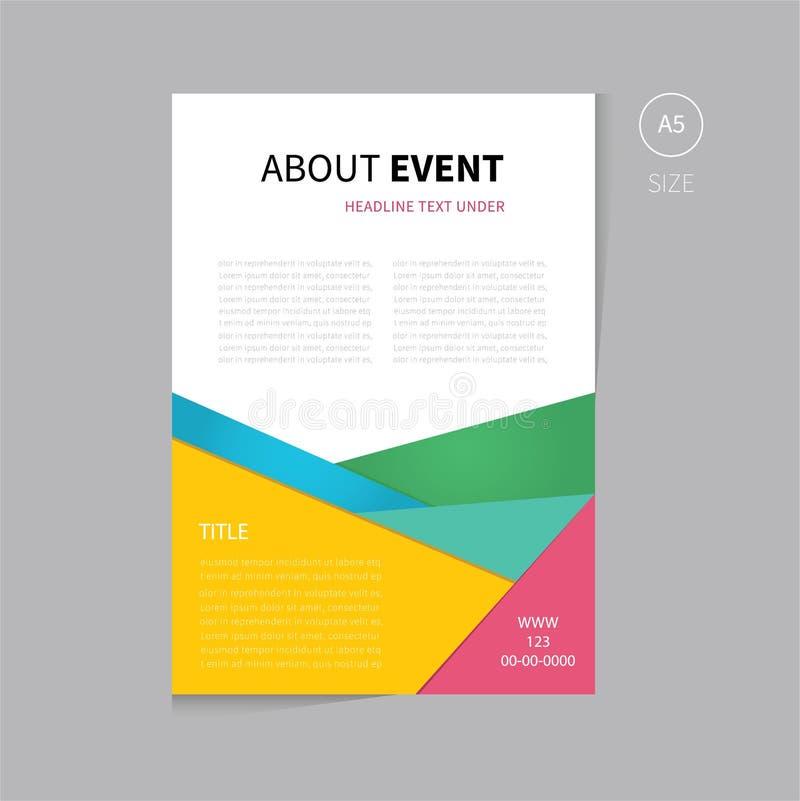 Размер дизайна a5 шаблона рогульки брошюры вектора бесплатная иллюстрация