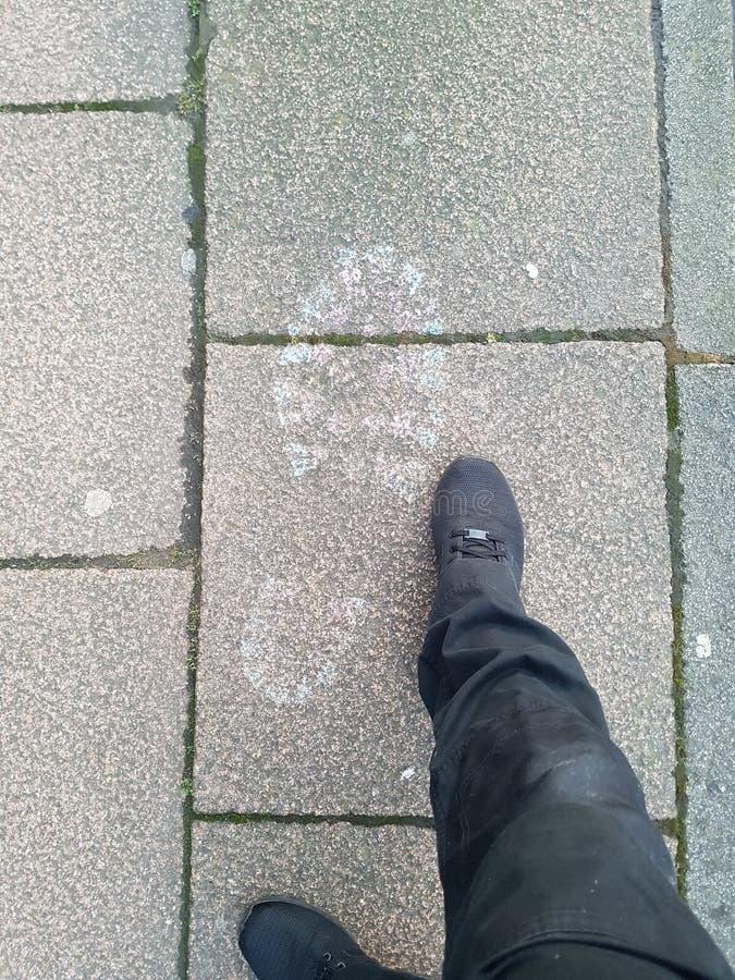 Размер их ноги стоковая фотография rf