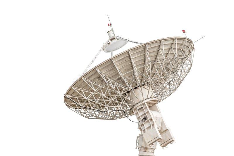 Размер спутникового радиолокатора параболической антенны большой изолированный на белом backgrou стоковое изображение